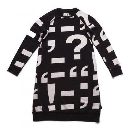Nununu Punctuation A Sweat Dress FW16