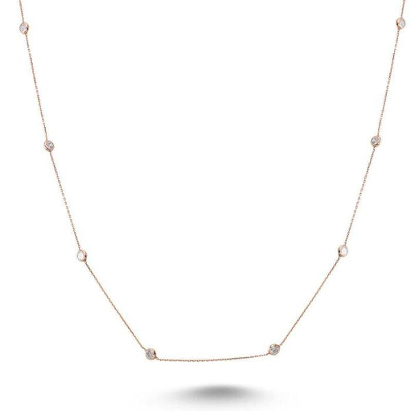Amorium Mimosa Necklace in Rose Gold