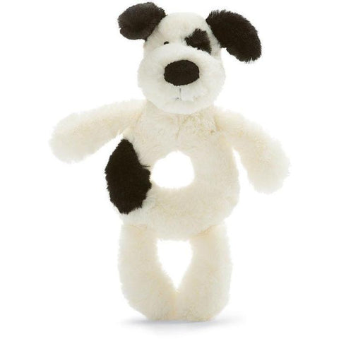 JellyCat Bashful Black & Cream Puppy Grabber