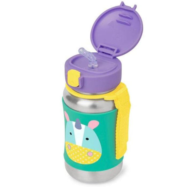 Skip Hop Zoo SS Straw Bottle - Unicorn