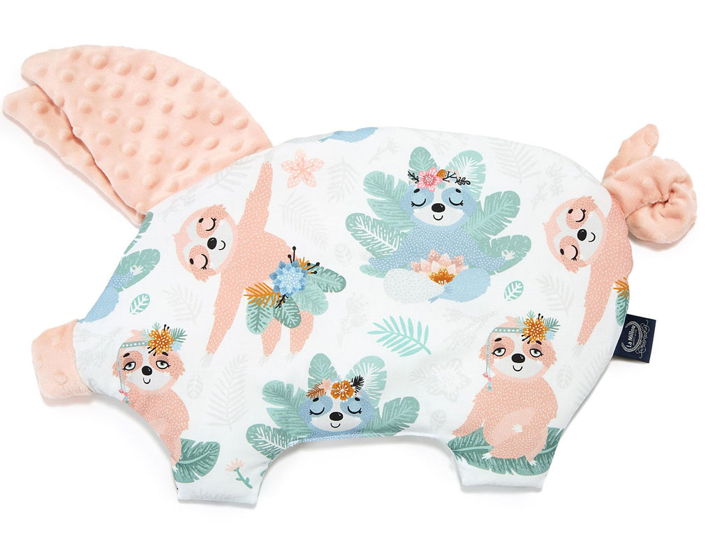 La Millou Sleepy Pig Pillow - Powder Pink
