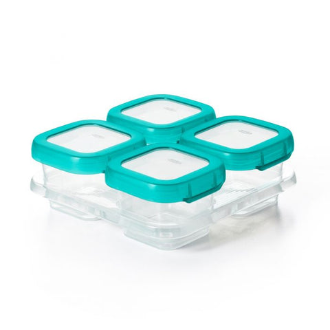 Oxo Tot Baby Blocks Freezer Storage Containers - 4pcs