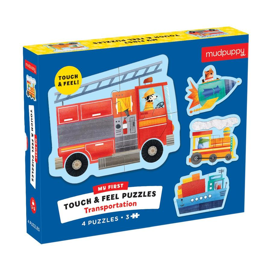 Mudpuppy Touch & Feel Puzzles - Transportation