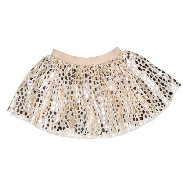 Huxbaby Rose Gold Leopard Tulle Skirt