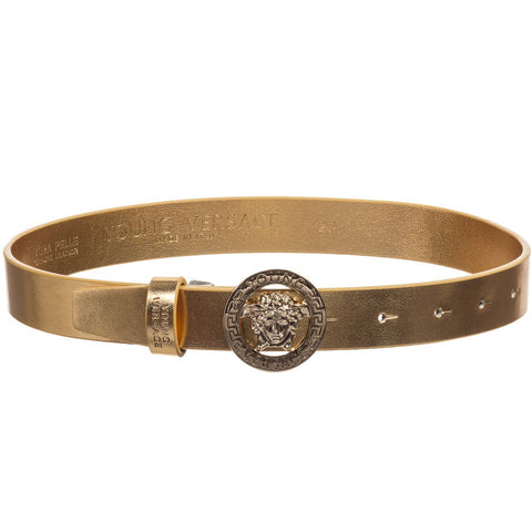 Young Versace Girls Belt w/Medusa Logo Buckle