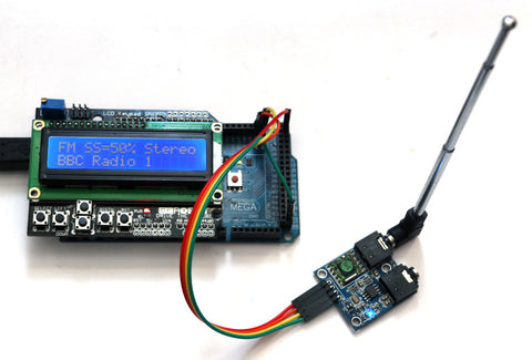 TEA5767 fm radio module connected to arduino