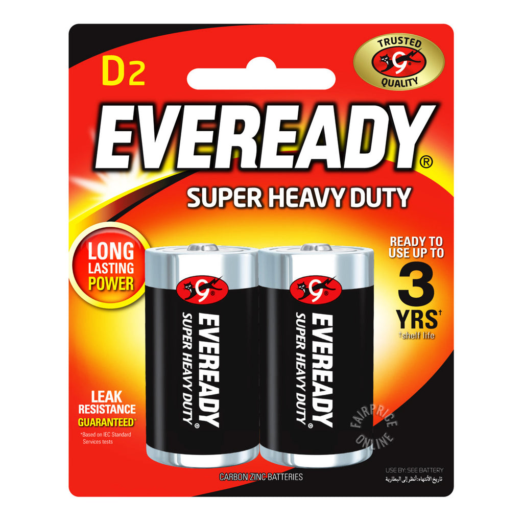 Eveready D2 Batteries Super Heavy Duty (Pack of 2)