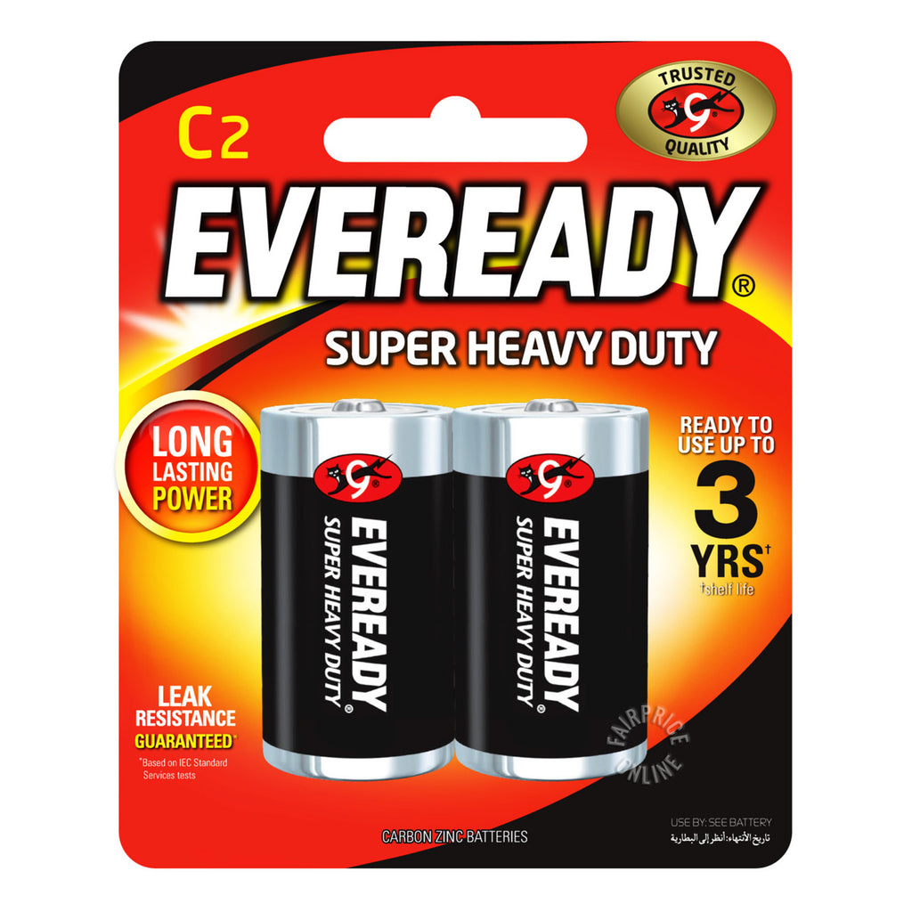 Eveready C2 Batteries Super Heavy Duty (Pack of 2)