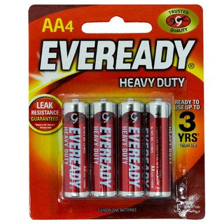 Eveready AA4 Batteries Heavy Duty (Pack of 4)