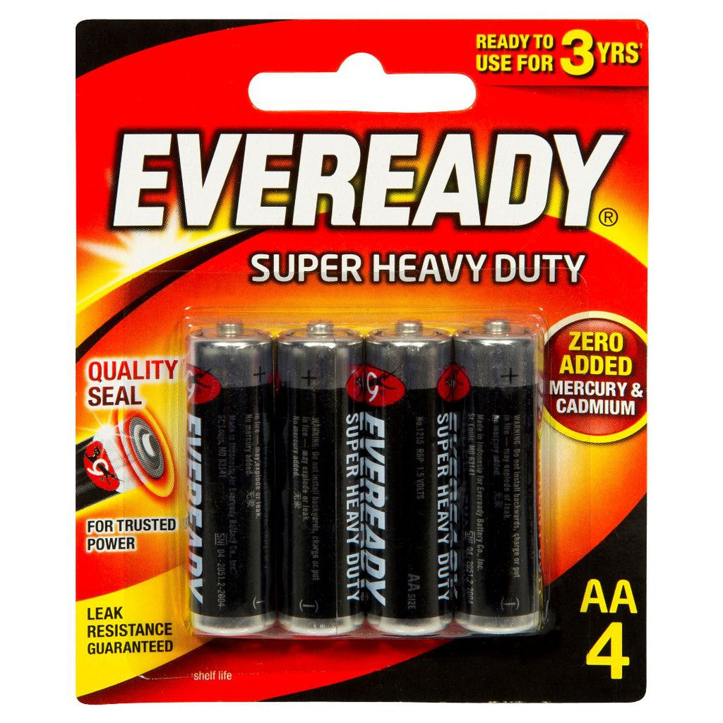 Eveready AA4 Batteries Super Heavy Duty (Pack of 4)