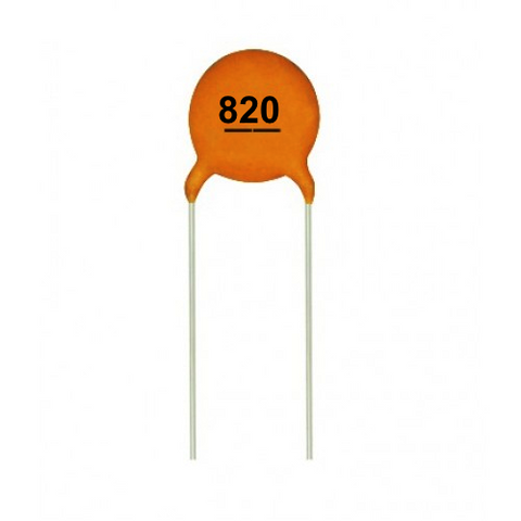 820pF 50V Ceramic Capacitors