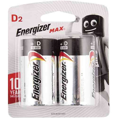 Energizer D2 Max Batteries (Pack of 2)