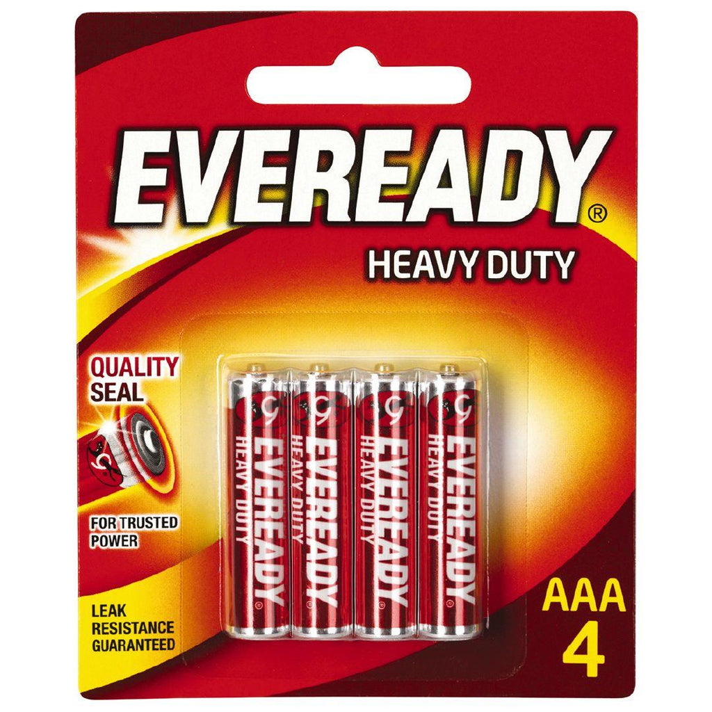Eveready AAA4 Batteries Heavy Duty (Pack of 4)