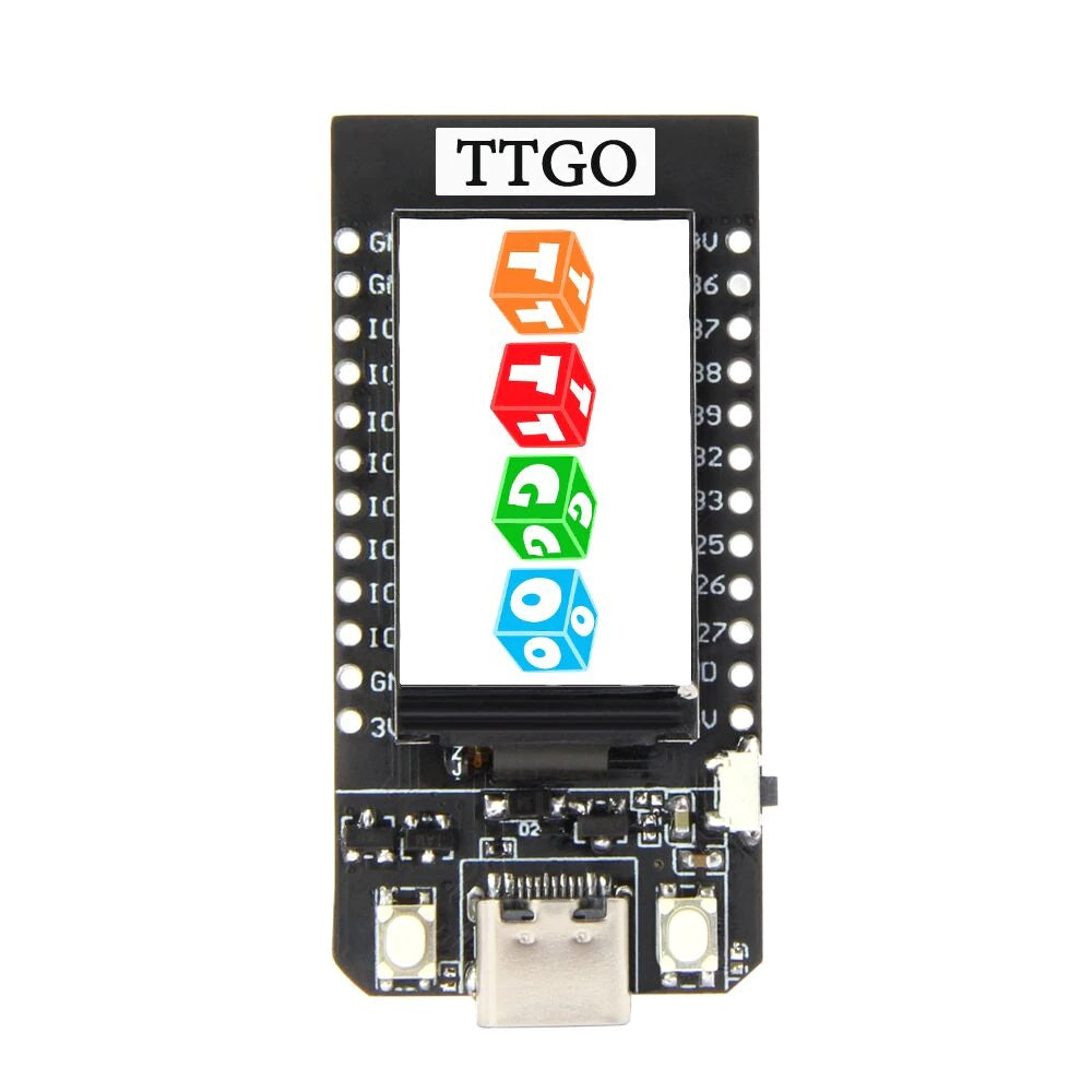 TTGO T-Display Development Board (ESP32 WIFI/Bluetooth and 1.14 inch Color Display)
