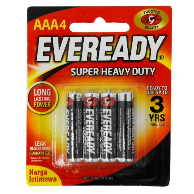 Eveready AAA4 Batteries Super Heavy Duty (Pack of 4)