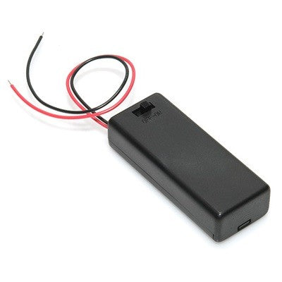 2 X AA Battery Holder with Cover and ON/OFF Switch