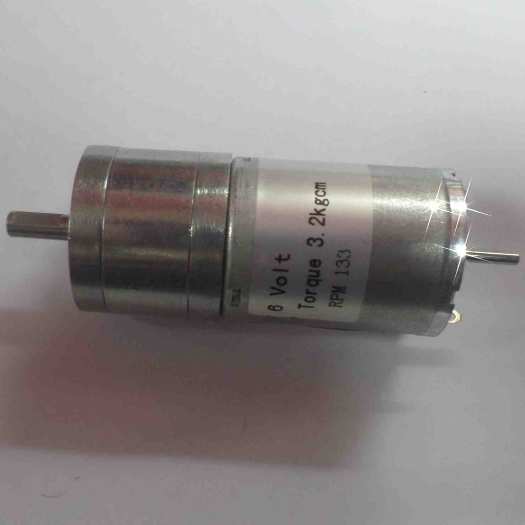 DC Motor with Metal Gear (3.2 kg.cm - 133 RPM - 6V)