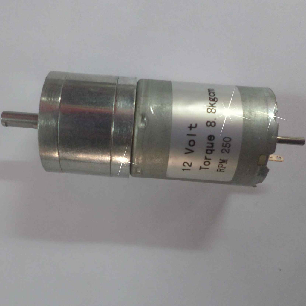 DC Geared Motor with Metal Gear (8.8Kg-250RPM-12V)