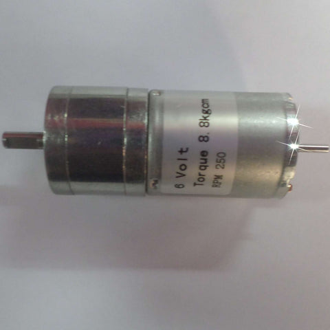 DC Geared Motor with Metal Gear (8.8Kg-250RPM-6V)