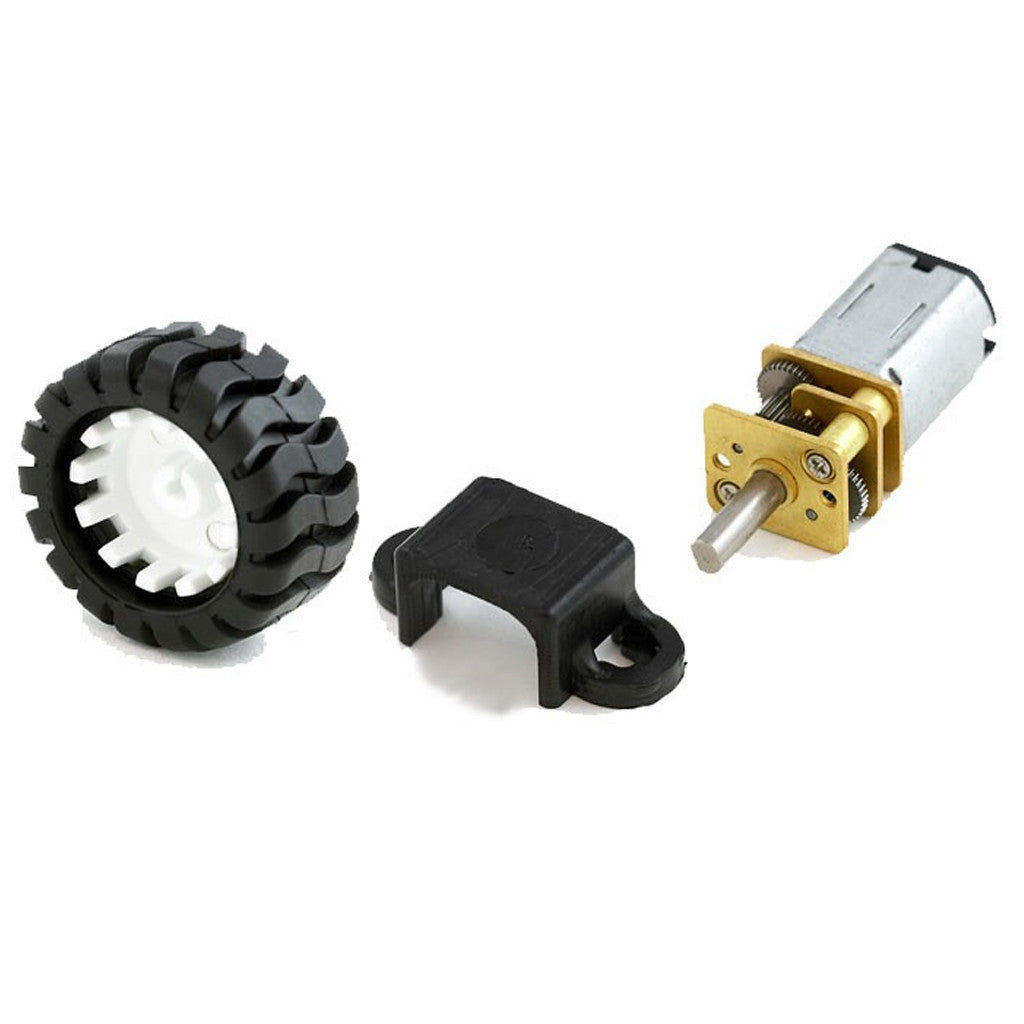 Micro Metal DC Motor Kit (Motor +Wheel +base)