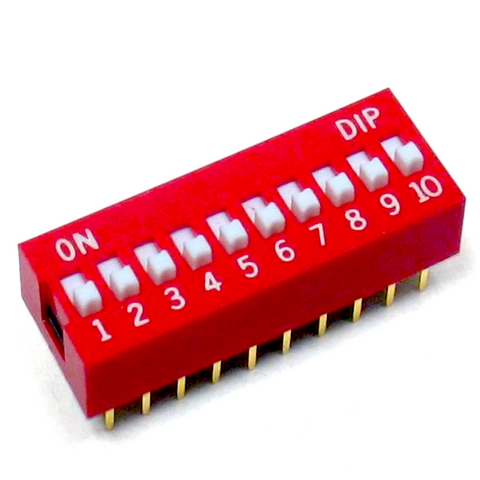 Dip Switch 10 Positions