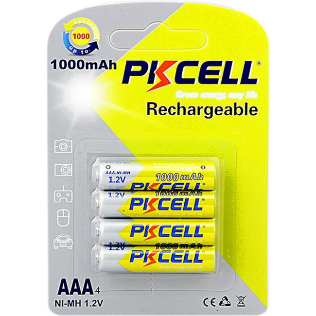 PKCELL rechargeable AAA Battery (1000 mah-1.2 v)