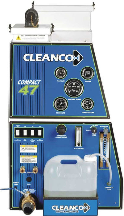 "Cleanco Compact Design: 25"" is all that's required, leaving the rest of your cargo space available for other equipment"