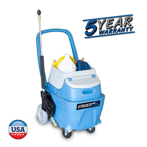 COUNTER STRIKE is a 5 gallon machine with a 220 psi solution pump for optimum productivity.