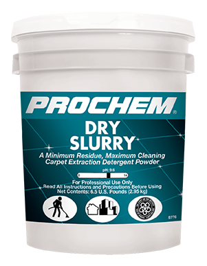 Prochem Dry Slurry is Perfect for use in restaurants, commercial settings and residential homes.