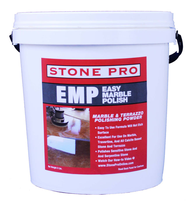 Excellent for use on marble, travertine and all calcite based stone and terrazzo.