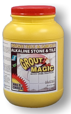 GROUT MAGIC is a High Performing, Alkaline, Oxidizing, CLEANER. Amazing performance. Aggressively attacks dirt, grime, and oily soil, as well as smoke and fire residue. Ideal for Grout, Tile, Cement, and most water cleanable hard surfaces. Watch the grime melt away.