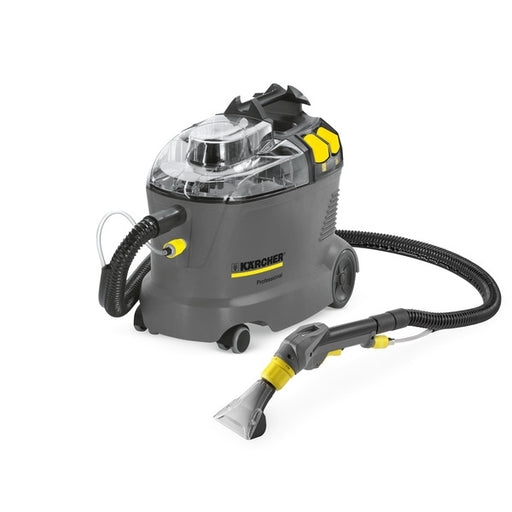 The Kärcher Puzzi 8/1 is a handy, compact and powerful spray extraction cleaner, ideal for small areas and interim cleaning with excellent cleaning results.