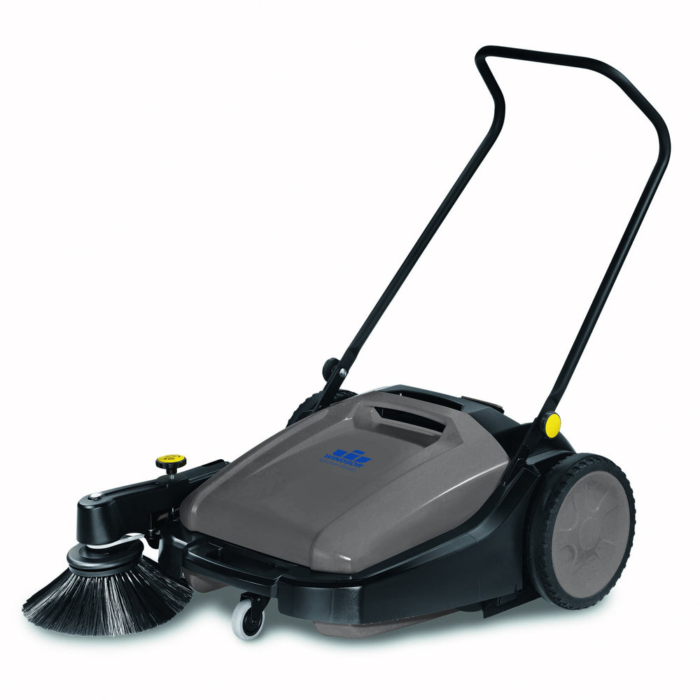 Windsor Radius Manual-Powered Sweeper  Fast and efficient, push sweepers are the easy way to clean paths, halls, sidewalks and warehouses quickly and conveniently.