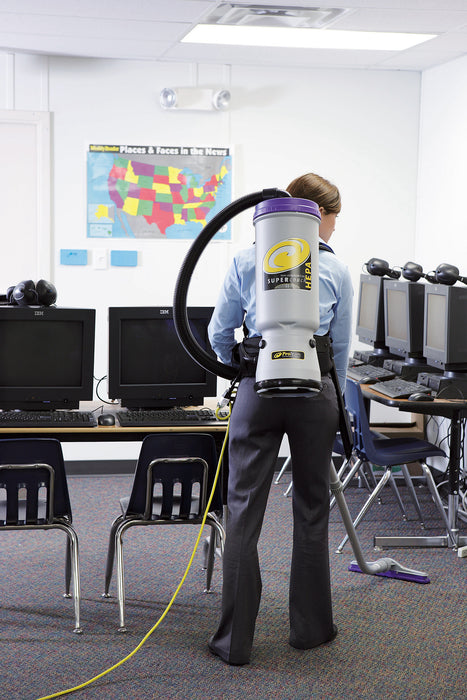 Super CoachVac® HEPA The most powerful backpack vacuum on the market is now available with HEPA Level Filtration