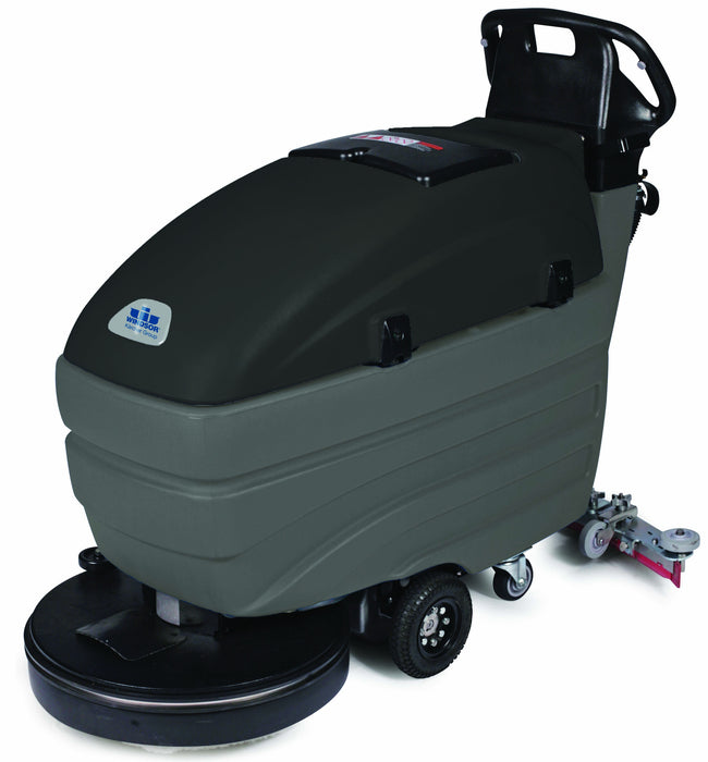 Rugged machine design ensures years of maximum performance with the Saber Compact 20 walk-behind scrubber.