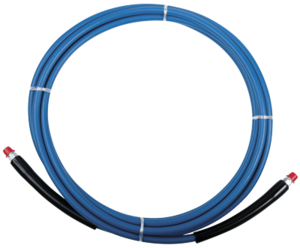 "1/4"" High Pressure (3,000 PSI), high heat (250ºf) solution hose. Includes 1/4"" male pipe threads on both ends with sleeve hose guards."