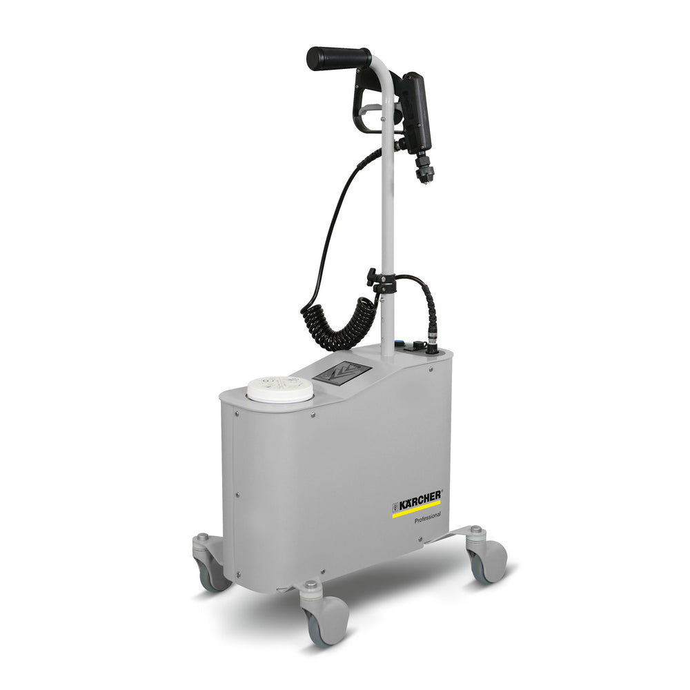 The Kärcher PS 4/7 Bp hospital-grade misting system is specifically designed to reduce risks of Health Care Acquired Infections by killing virus, bacteria and mold faster, safer and quieter.