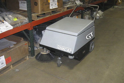 The perfect way to quietly and quickly clean your indoor running track and complex is with a GT Floor Sweeper. This sweeper works on any floor type.