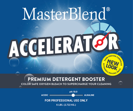 Accelerator Premium Detergent Booster has a unique property that increases the cleaning strength of any liquid or powder detergents.