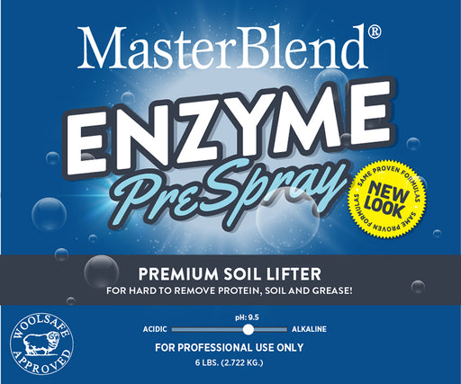 Enzyme PreSpray Premium Soil Lifter is a superior powdered citrus enzyme prespray for hard to remove protein soil and grease.