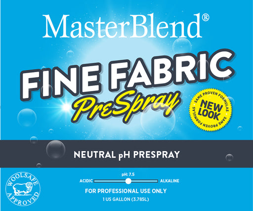 Fine Fabric PreSpray Spotter is formulated to be a superior performing neutral pH prespray for all your prespray needs on upholstery and fine fabrics
