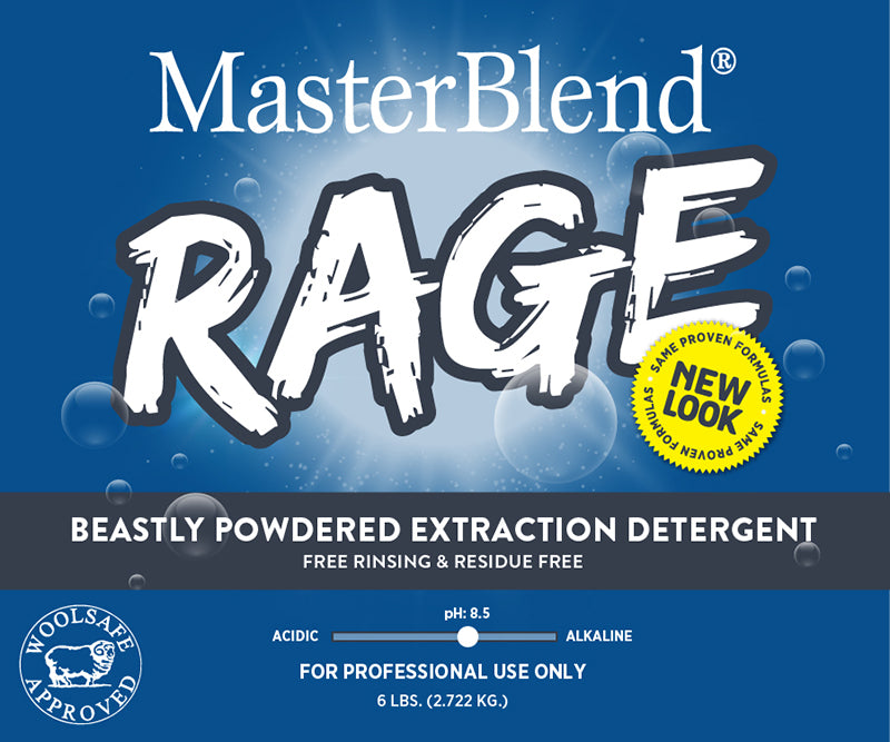 Rage is a premium powdered detergent with a pH of 8.5 which makes it the perfect choice for the safe cleaning