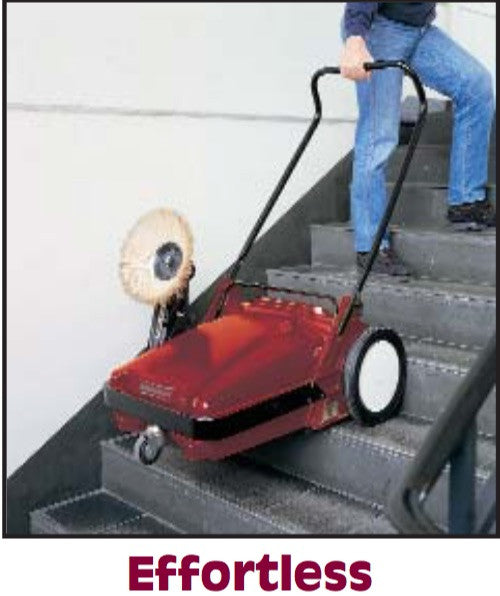 With the Minuteman KS27, Stairs and curbs can be climbed easily due to the large rear wheels.