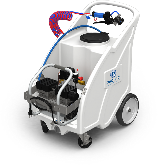 The AM-15 is a versatile misting unit with effective droplets at 15 microns and overall capacity provides superior productivity for large area disinfection.
