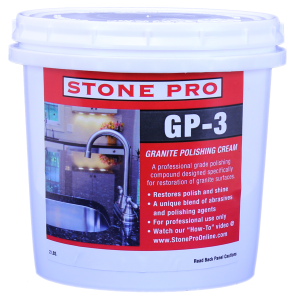 A professional grade polishing compound designed specifically for restoration of granite surfaces.