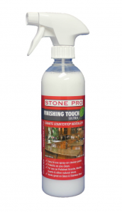 Stone Pro Finishing Touch is a 3 in 1 product to Clean, Polish and Protect granite and quartz countertops.