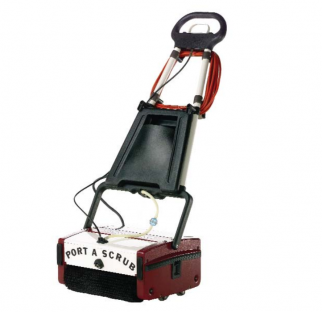 Minuteman Port A Scrub is a Compact and versatile cleaning machine excels on virtually any type of hard floor including vinyl, tile, hardwood, concrete, short nap carpeting, diamond plate, quarry tile, brick, slate, mosaic, studded rubber, granite, marble, rubber floors, escalators and people movers