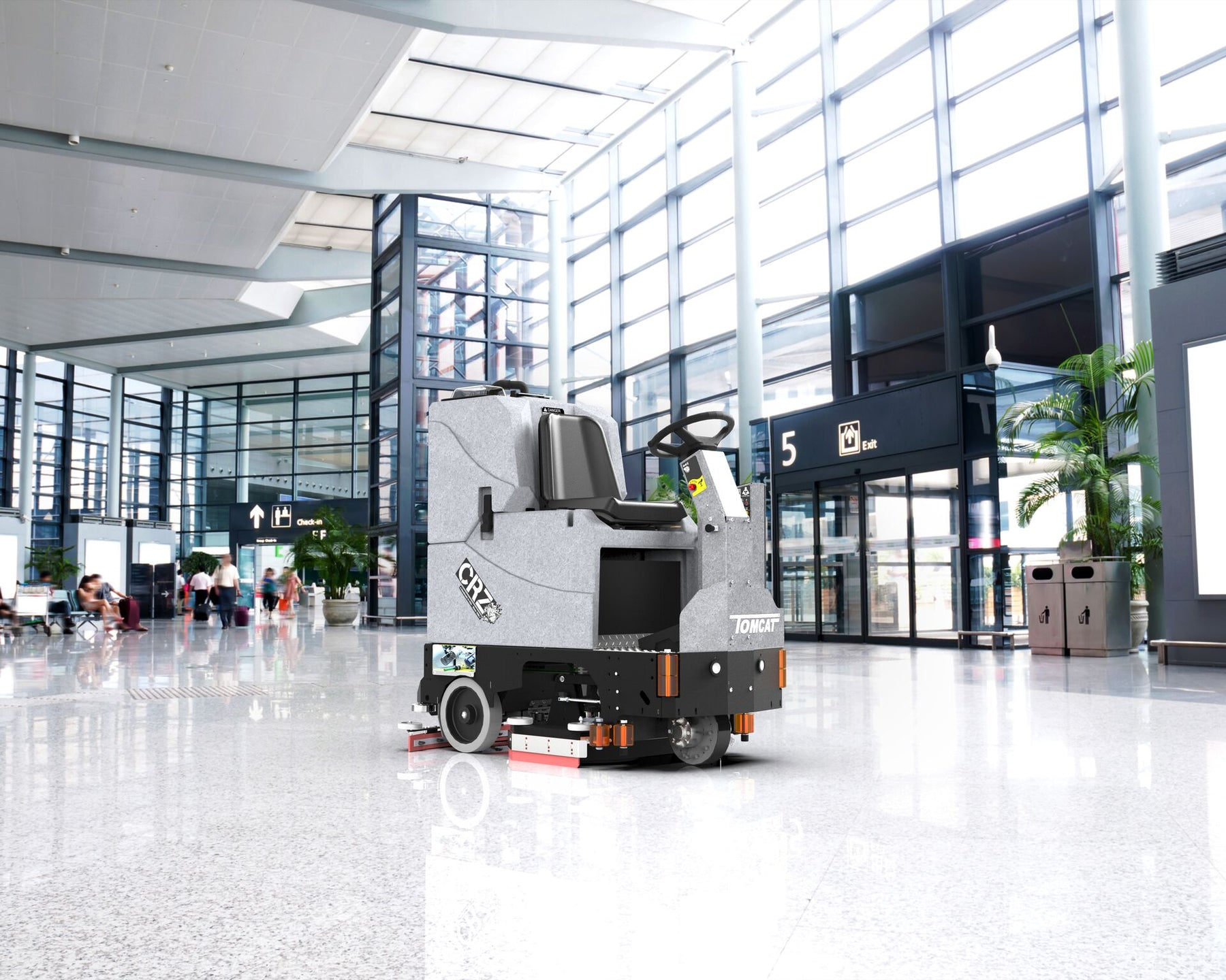 Tomcat's CRZ Rider Scrubber-Sweepers are tough, compact scrubbers that offer the great productivity of Rider machines but with better maneuverability than Walk Behinds.