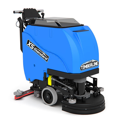 "The XSS 17"" Standard Traction Floor Scrubber cleans in hard to reach areas with its small footprint making it an ideal machine for applications under 25,000ft2"