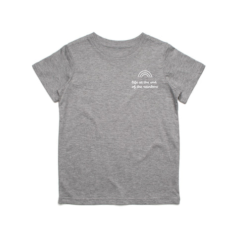 End Of The Rainbow Heather Grey Tee (Kids)